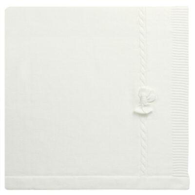 Imagem 1 do produto Manta para bebe em tricot Off White - Mini & Classic