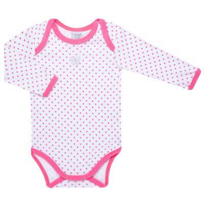 Imagem 1 do produto Body longo para bebe em high comfort Borboletinha - Vicky Lipe - 2044091.305 BODT M/L TRANSP. SUEDINE HC POÁ ROSA-P