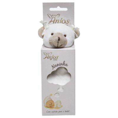 Imagem 1 do produto Naninha Chocalho em malha Ursinha - Anjos Baby