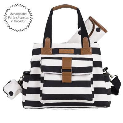 Imagem 1 do produto Bolsa para bebe Kate  Brooklyn Black and White - Masterbag