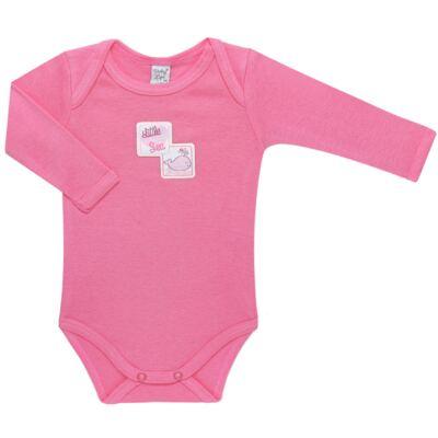 Imagem 4 do produto Pack 2 Bodies longos para bebe em high comfort Cute Whale - Vicky Lipe - 20471334 PACK BODY ML MALHA BALEIA-RN