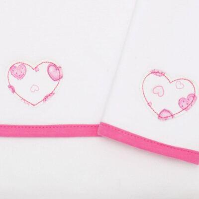 Imagem 2 do produto Kit com 2 fraldinhas de boca em malha Amour - Classic for Baby