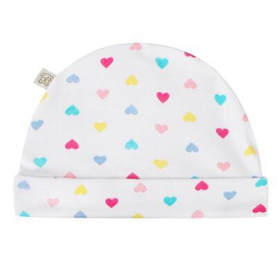 Imagem 4 do produto Kit c/ Touca, Luva e Sapatinho para bebe em malha Corações - Pingo Lelê