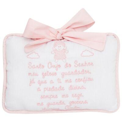 Imagem 1 do produto Almofada Santo Anjo para bebe em piquet Rosa - Classic for Baby