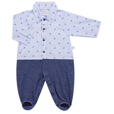 Imagem 4 do produto Jogo Maternidade para bebe: Macacão Camisa, Colete e Manta em tricot David - Beth Bebê