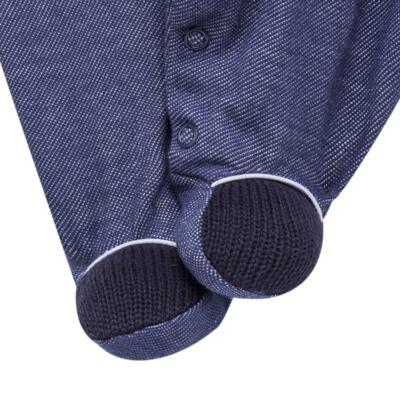 Imagem 5 do produto Jogo Maternidade para bebe: Macacão Camisa, Colete e Manta em tricot David - Beth Bebê