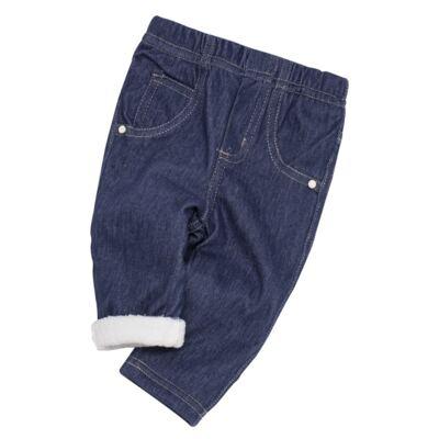 Imagem 5 do produto Calça para bebe forrada em fleece Basic Denim - Mini & Kids - CLCF0001.232 CALÇA C/FORRO - FLEECE-GG