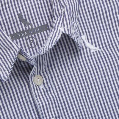 Imagem 2 do produto Camisa para bebe em tricoline Degradê Marinho - Reserva Mini - RM23166 CAMISA BB DF DEGRADE-G