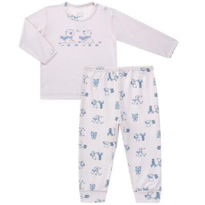 Imagem 1 do produto Pijama longo para bebe em suedine Smart Bear - Dedeka - DDK16563/E110 Pijama Suedine Urso Azul-P
