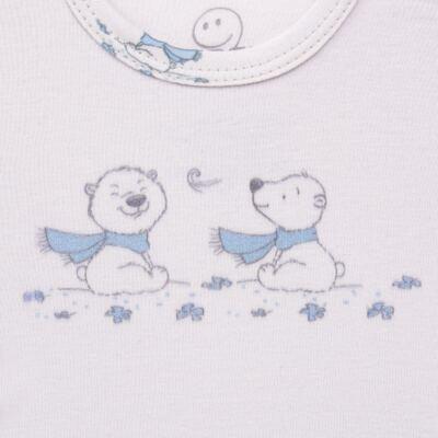 Imagem 3 do produto Pijama longo para bebe em suedine Smart Bear - Dedeka - DDK16563/E110 Pijama Suedine Urso Azul-P