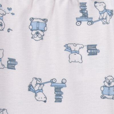 Imagem 5 do produto Pijama longo para bebe em suedine Smart Bear - Dedeka - DDK16563/E110 Pijama Suedine Urso Azul-P