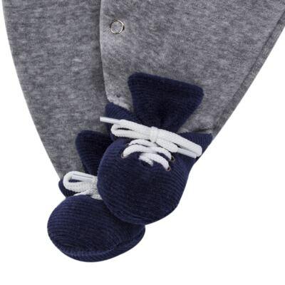 Imagem 7 do produto Macacão longo c/ Colete para bebe em plush Benicio - Beth Bebê - BB8919 Macacão Colete Benicio Azul-P