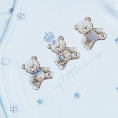 Imagem 3 do produto Jogo Maternidade com Macacão e Manta para bebe em algodão egípcio c/ jato de cerâmica Prince Bear - Mini & Classic