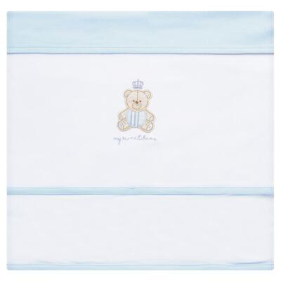 Imagem 4 do produto Jogo Maternidade com Macacão e Manta para bebe em algodão egípcio c/ jato de cerâmica Prince Bear - Mini & Classic