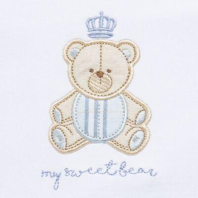 Imagem 5 do produto Jogo Maternidade com Macacão e Manta para bebe em algodão egípcio c/ jato de cerâmica Prince Bear - Mini & Classic