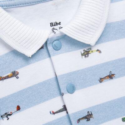 Imagem 4 do produto Jogo Maternidade com Macacão e Manta em algodão egípcio Aviões - Bibe