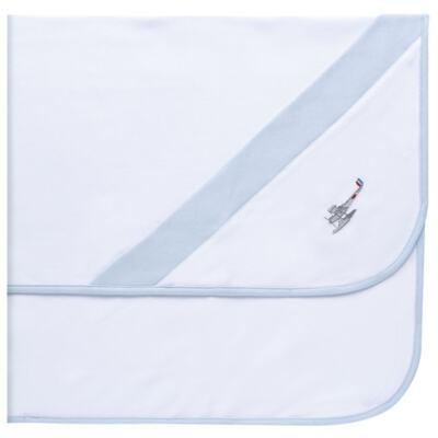 Imagem 5 do produto Jogo Maternidade com Macacão e Manta em algodão egípcio Aviões - Bibe