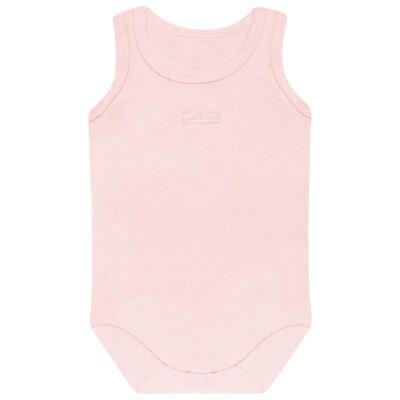 Imagem 1 do produto Body regata para bebe Rosa em algodão egípcio c/ jato de cerâmica e filtro solar fps 50 - Mini & Kids - BRT196 BODY REGATA SUEDINE ROSA BB-M
