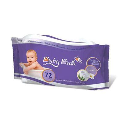 Imagem 1 do produto Lenços Umedecidos com 72 lenços (0m+) - Baby Bath
