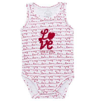 Imagem 1 do produto Body regata para bebe em algodão egípcio c/ jato de cerâmica e filtro solar fps 50  Sweet Love - Mini & Kids - BDR0005.86 BODY REGATA - SUEDINE LOVE-P