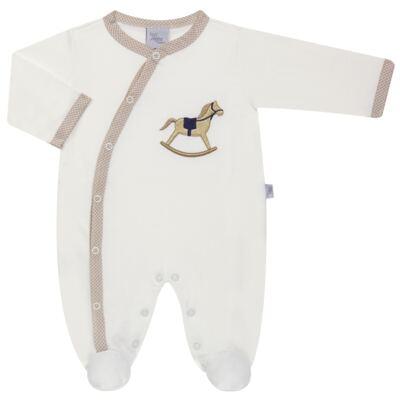 Imagem 1 do produto Macacão longo para bebe em suedine Little Horse - Anjos Baby - AB1658029 MACACAO LONGO LISO MASC -M