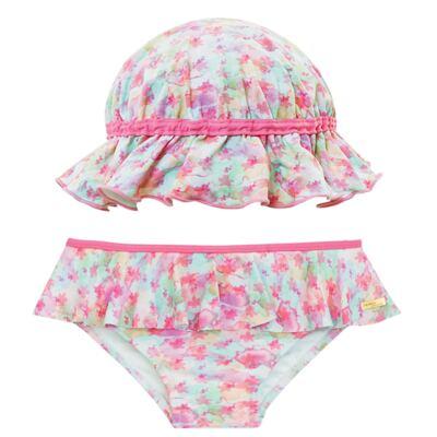 Imagem 1 do produto Conjunto de banho Aquarelle: Biquini + Chapéu - Dedeka - DDK16400 Calcinha e Chapéu Aquarelle -1