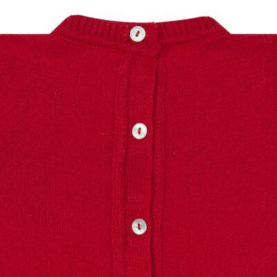 Imagem 3 do produto Jardineira com Body longo para bebe em tricot Love Sailor - Mini Sailor - 17354443 Jardineira Longa c/ Body Tricot Vermelho-0-3