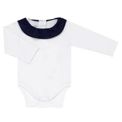 Imagem 4 do produto Jardineira com Body longo para bebe em tricot Love Sailor - Mini Sailor - 17354443 Jardineira Longa c/ Body Tricot Vermelho-0-3