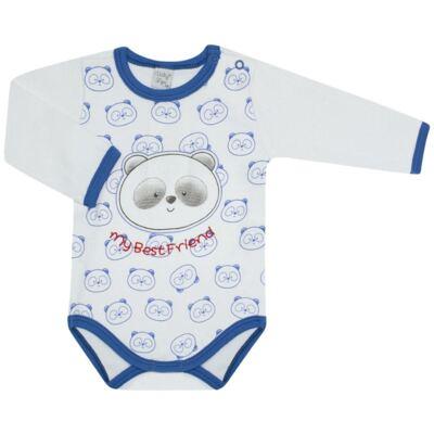 Imagem 1 do produto Body longo para bebe em suedine Urso Panda - VickyLipe - BL248 BODY ML SUEDINE URSO PANDA-P