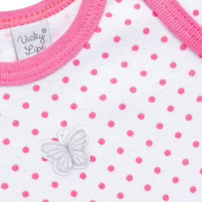 Imagem 2 do produto Body longo para bebe em high comfort Borboletinha - Vicky Lipe - 2044091.305 BODT M/L TRANSP. SUEDINE HC POÁ ROSA-RN