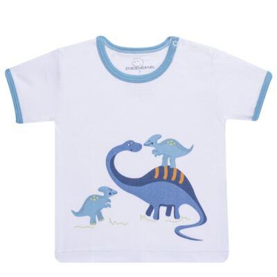 Imagem 2 do produto Pijama curto para bebe em suedine Dino - Dedeka - DDK17123/L44 Pijama Ribana Azul Sereno-G