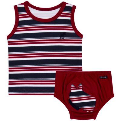 Imagem 1 do produto Regata com Cobre fralda em algodão egípcio Norfolk - Grow Up - 04070044.0017 RGTA C/ CB FRALDA DOG VERMELHO-M