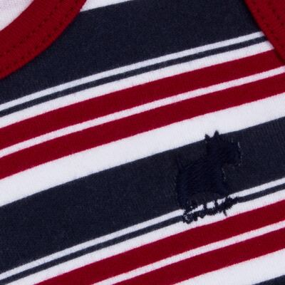 Imagem 3 do produto Regata com Cobre fralda em algodão egípcio Norfolk - Grow Up - 04070044.0017 RGTA C/ CB FRALDA DOG VERMELHO-M