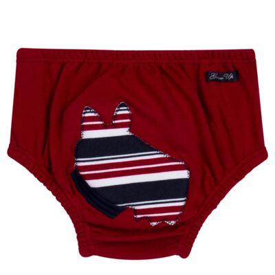 Imagem 5 do produto Regata com Cobre fralda em algodão egípcio Norfolk - Grow Up - 04070044.0017 RGTA C/ CB FRALDA DOG VERMELHO-M