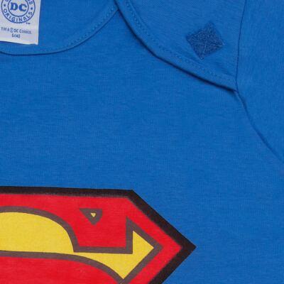 Imagem 3 do produto Fantasia Superman: Macacão longo com Capa em malha Stica Stica - Get Baby - 211063 MACACAO TODDLER LONGO M/L-3