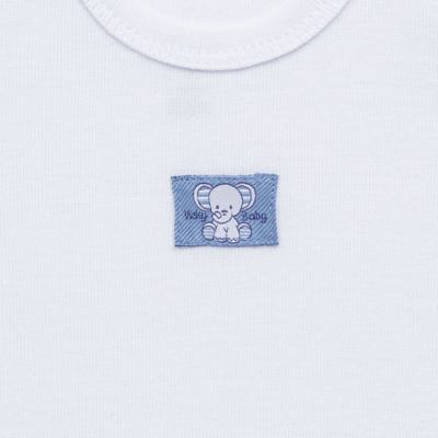 Imagem 3 do produto Pack Elefantinho: 02 regatas em high comfort - Vicky Baby - 1021-713 ELEF AZUL PK 2 RGT BEBE SUED HIGH-G