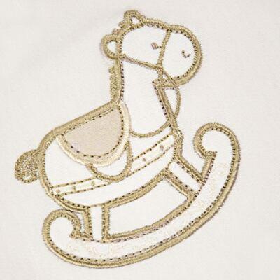 Imagem 2 do produto Manta dupla face em Pima Cotton Supreme Baby Horse - Mini & Kids