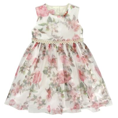 Imagem 1 do produto Vestido para bebe em tule Lauren - Miss Sweet - SW2058 Vestido Tule Floral-3