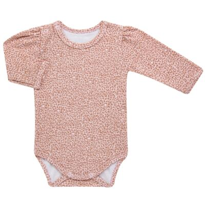 Imagem 4 do produto Kit 2 Bodies longos para bebe em suedine Leopard Print - Grow Up - 09100095.0002 KIT 2 BODIES PRINCESS ML ROSA-G