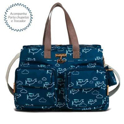 Imagem 2 do produto Bolsa para bebe Toulouse + Bolsa térmica organizadora Aviões - Masterbag - Bolsa para bebe Toulouse + Bolsa térmica Amy Aviões - Masterbag