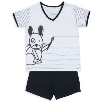 Imagem 1 do produto Pijama curto para bebe em malha Puppy - Dedeka - DDK18118/E215 PIJAMA MODAL/LISTRADO -P