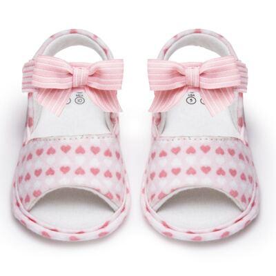 Imagem 1 do produto Sandália para bebe em algodão egípcio c/ jato de cerâmica e filtro solar fps 50 Maternité Love - Mini & Kids - 500.005.0751999 SANDÁLIA GORGURÃO 0 MK 15-16
