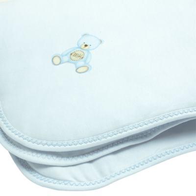 Imagem 2 do produto Manta para bebe acolchoada em Pima Cotton Supreme Prime Bear Azul - Mini & Kids