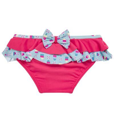 Imagem 2 do produto Conjunto de banho Sweet Candy: Biquini + Chapéu - Dedeka - DDK17433/L17 Calcinha e Chapeu Rosa Pink-G