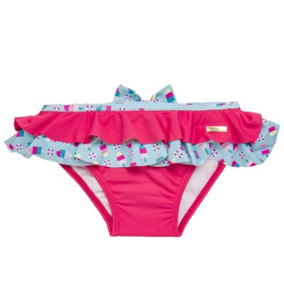 Imagem 3 do produto Conjunto de banho Sweet Candy: Biquini + Chapéu - Dedeka - DDK17433/L17 Calcinha e Chapeu Rosa Pink-G