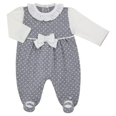 Imagem 1 do produto Macacão longo para bebe em suedine Petit Pois - Anjos Baby - AB171064.032 MACACAO LONGO FEM. T07-G