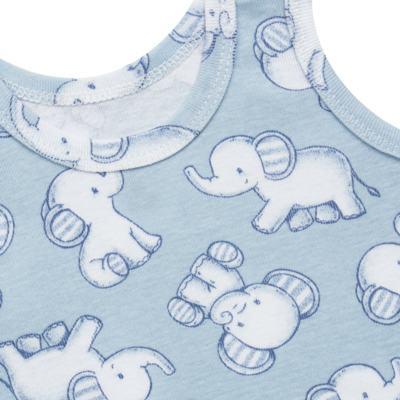 Imagem 5 do produto Pack Elefantinho: 02 regatas em high comfort - Vicky Baby - 1021-713 ELEF AZUL PK 2 RGT BEBE SUED HIGH-PP