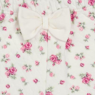 Imagem 5 do produto Body Polo com Shorts para bebe em suedine Florale - Grow Up - 04080008.0004 CONJUNTO FLOWERY CREME-P
