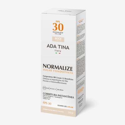 Ada Tina Normalize FT BB Cream Protetor Solar FPS 30 - Ada Tina Normalize FT BB Cream Protetor Solar FPS 30 50g - 30 Beige