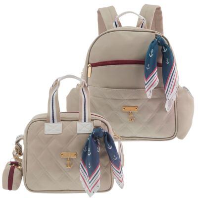 Imagem 1 do produto Mochila maternidade Palermo + Frasqueira Luana Náutica Marfim - Masterbag